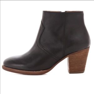 Madewell 1937 Black Leather Zipcode Boot